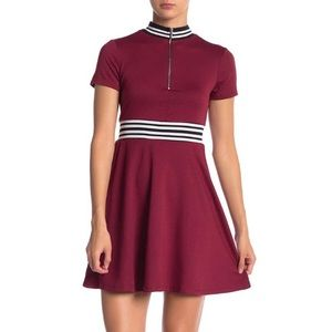 Be Bop Short Sleeve French Terry Dress